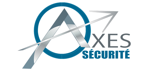 Logo Axes Sécurité réalisé par Pantheas à Narbonne