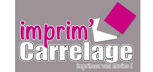 Logo Imprim Carrelage réalisé par Pantheas à Narbonne